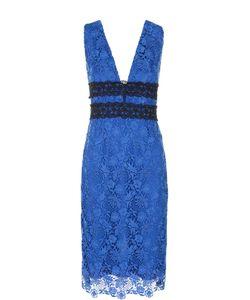 Diane Von Furstenberg | Кружевное Облегающее Платье С V-Образным Вырезом