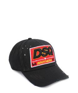 Dsquared2 | Хлопковая Бейсболка С Нашивкой И Декоративными Потертостями