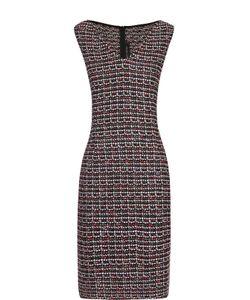 St. John | Буклированное Приталенное Платье С V-Образным Вырезом