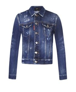 Dsquared2 | Укороченная Джинсовая Куртка С Потертостями