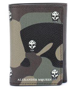 Alexander McQueen | Кожаное Портмоне С Камуфляжным Принтом