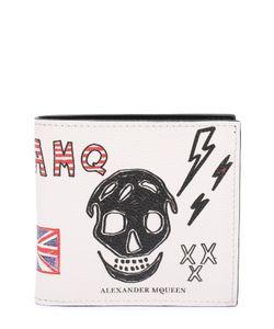 Alexander McQueen | Кожаное Портмоне С Принтом И Отделением Для Кредитных Карт