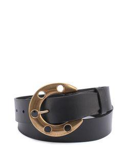 Dolce & Gabbana | Кожаный Ремень С Металлической Пряжкой В Виде Подковы