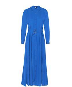 Diane Von Furstenberg | Шелковое Платье-Рубашка С Поясом И Карманами