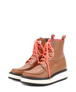 Kenzo | Кожаные Ботинки С Контрастной Шнуровкой