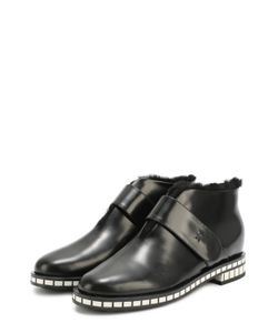 Giorgio Armani | Кожаные Ботинки На Подошве С Контрастными Вставками