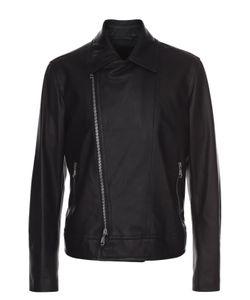 Brioni | Кожаная Куртка С Косой Молнией И Отложным Воротником