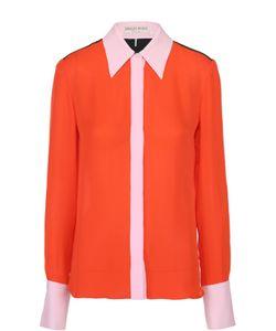 Emilio Pucci | Шелковая Блуза Прямого Кроя С Контрастной Отделкой