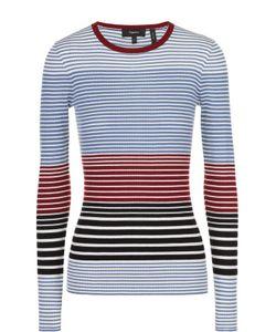 Theory | Облегающий Пуловер В Контрастную Полоску С Круглым Вырезом