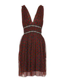 ISABEL MARANT ÉTOILE | Шелковое Приталенное Мини-Платье С V-Образным Вырезом Isabel Marant Etoile