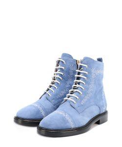 Aperlai | Замшевые Ботинки С Контрастной Прострочкой