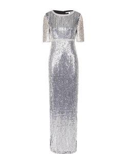 Diane Von Furstenberg | Облегающее Платье-Макси С Пайетками И Высоким Разрезом