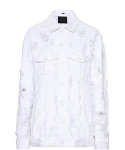 DENIM x ALEXANDER WANG   Джинсовая Куртка Свободного Кроя С Потертостями