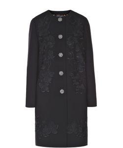 Dolce & Gabbana | Пальто Прямого Кроя С Цветочной Отделкой И Декорированными Пуговицами Dolce
