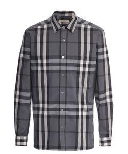 Burberry | Хлопковая Рубашка В Клетку С Воротником Кент