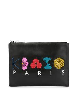Kenzo | Кожаный Клатч С Принтом