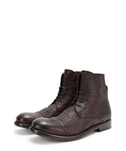 Mauron | Высокие Кожаные Ботинки С Тиснением