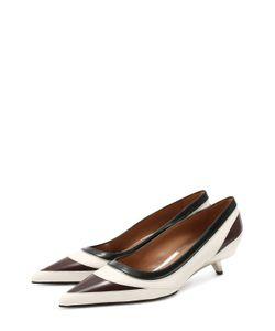 Marni | Кожаные Туфли На Фигурном Каблуке