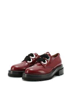 Marni | Лаковые Ботинки На Шнуровке