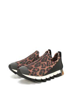 Dolce & Gabbana | Комбинированные Кроссовки Ibiza С Принтом Под Леопарда