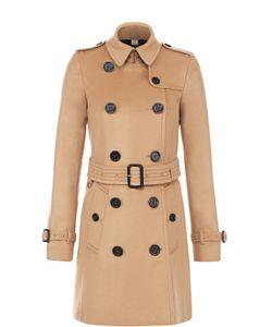 Burberry | Двубортное Пальто С Отложным Воротником И Поясом