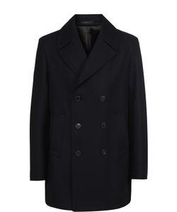 Armani Collezioni | Укороченное Двубортное Пальто Из Смеси Шерсти И Кашемира