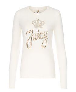 Juicy Couture | Хлопковый Лонгслив С Контрастной Отделкой Стразами