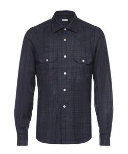 Kiton | Рубашка Из Смеси Шерсти И Кашемира В Клетку