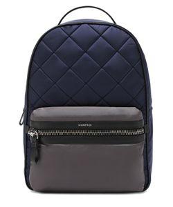 Moncler | Текстильный Стеганый Рюкзак С Отделкой Из Натуральной Кожи