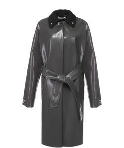 Acne | Пальто Прямого Кроя С Шерстяным Отложным Воротником И Поясом