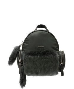 Moncler | Рюкзак С Отделкой Из Меха
