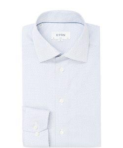 Eton | Хлопковая Приталенная Сорочка С Узором