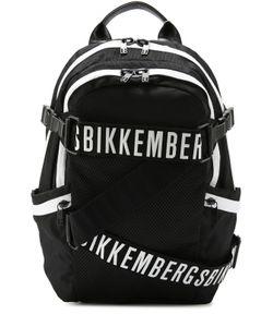 Bikkembergs | Текстильный Рюкзак С Декоративными Ремешками Dirk