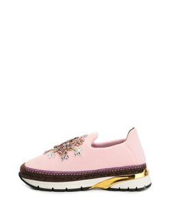 Dolce & Gabbana | Текстильные Кроссовки С Декором