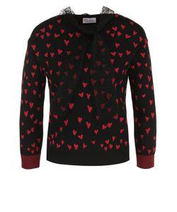Red Valentino | Пуловер С Принтом В Виде Сердец И Бантом