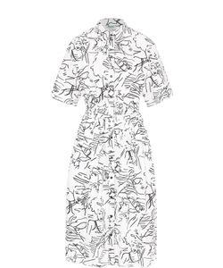 Kenzo | Приталенное Платье-Рубашка С Контрастным Принтом