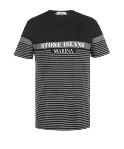 Stone Island | Хлопковая Футболка В Контрастную Полоску