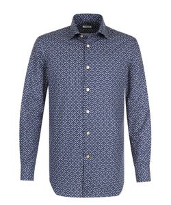 Kiton | Хлопковая Рубашка С Принтом