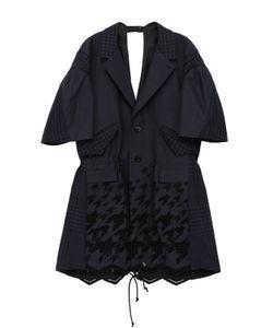 Sacai | Однобортное Приталенное Пальто С Укороченным Рукавом