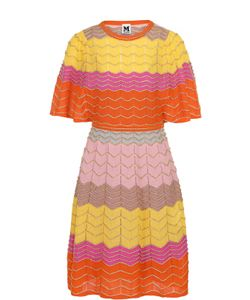 Missoni | Приталенное Платье-Миди С Удлиненным Рукавом M