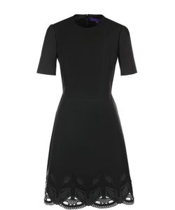 Ralph Lauren | Приталенное Платье С Декорированным Подолом