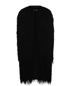 Tom Ford | Пальто Прямого Кроя С Круглым Вырезом И Бахромой