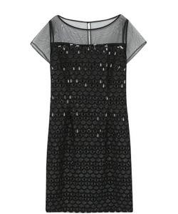 St. John | Приталенное Мини-Платье С Декоративной Отделкой