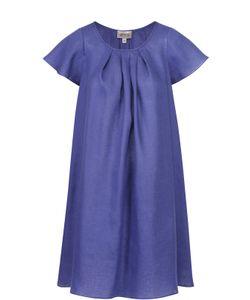 Armani Collezioni | Льняное Мини-Платье Свободного Кроя