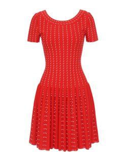 Alaïa | Вязаное Мини-Платье С Коротким Рукавом