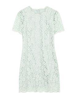 Dolce & Gabbana | Кружевное Мини-Платье С Коротким Рукавом