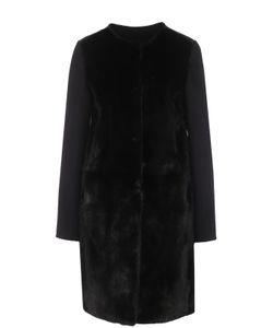 Yves Salomon | Пальто Из Смеси Шерсти И Кашемира С Отделкой Из Меха Норки