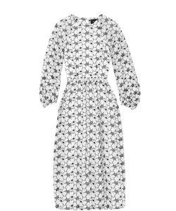 Simone Rocha   Платье С Цветочной Отделкой И Укороченным Рукавом
