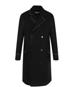 Maison Margiela | Двубортное Пальто В Контрастной Прострочкой