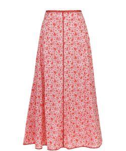 Rosie Assoulin   Хлопковая Юбка-Миди С Цветочным Принтом